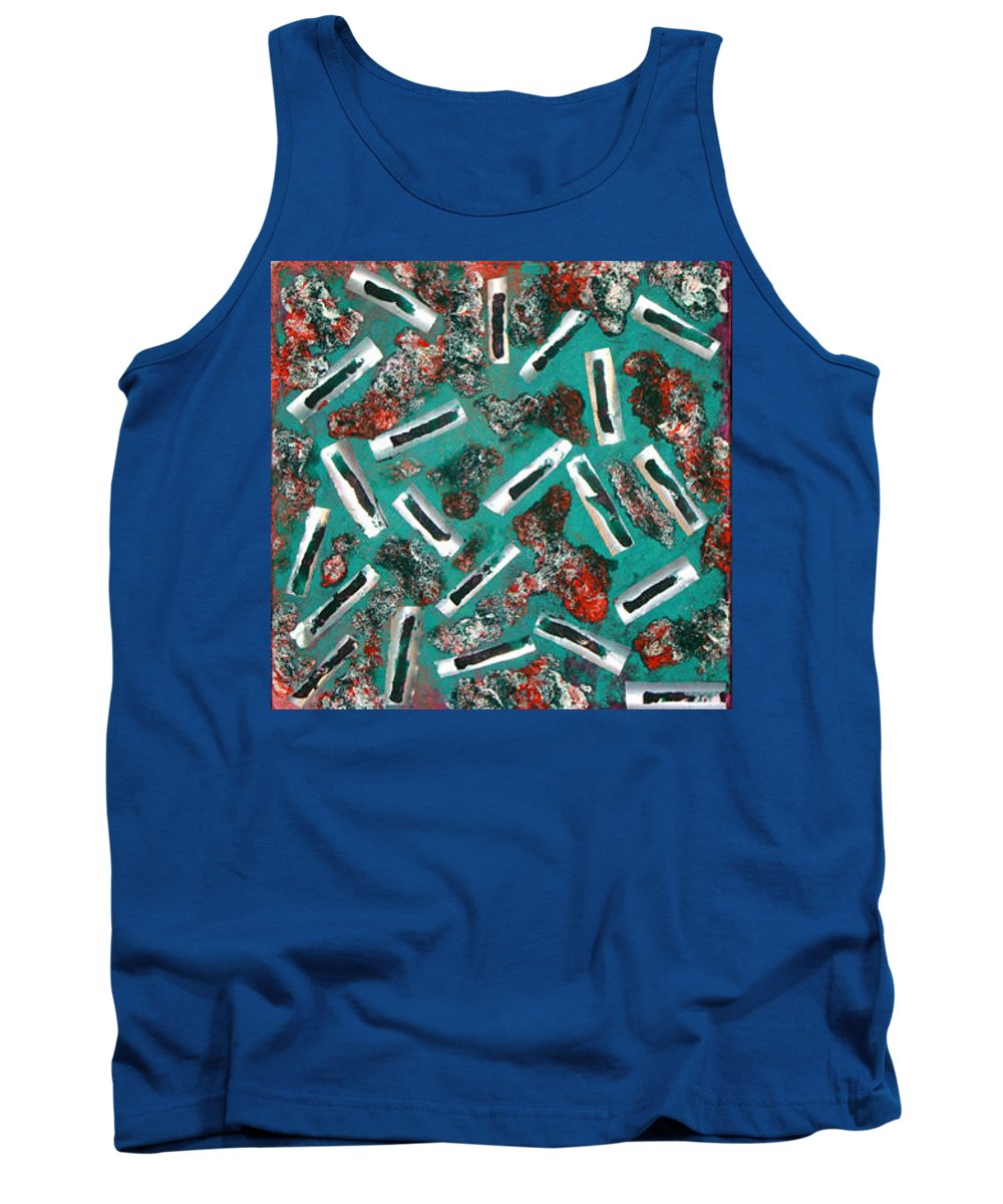 Moveonart! Digital Gallery Tank Top featuring the painting Moveonart Untitled 3 2005 by Jacob Kanduch