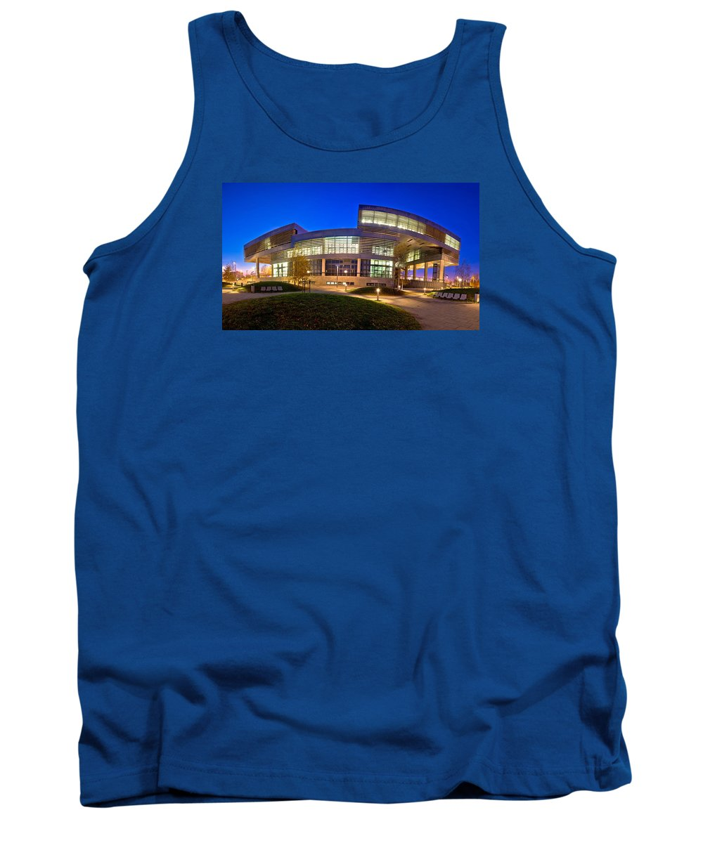 Contemporary Tank Top featuring the photograph Museum Of Contemporary Art In Zagreb Exterior by Brch Photography