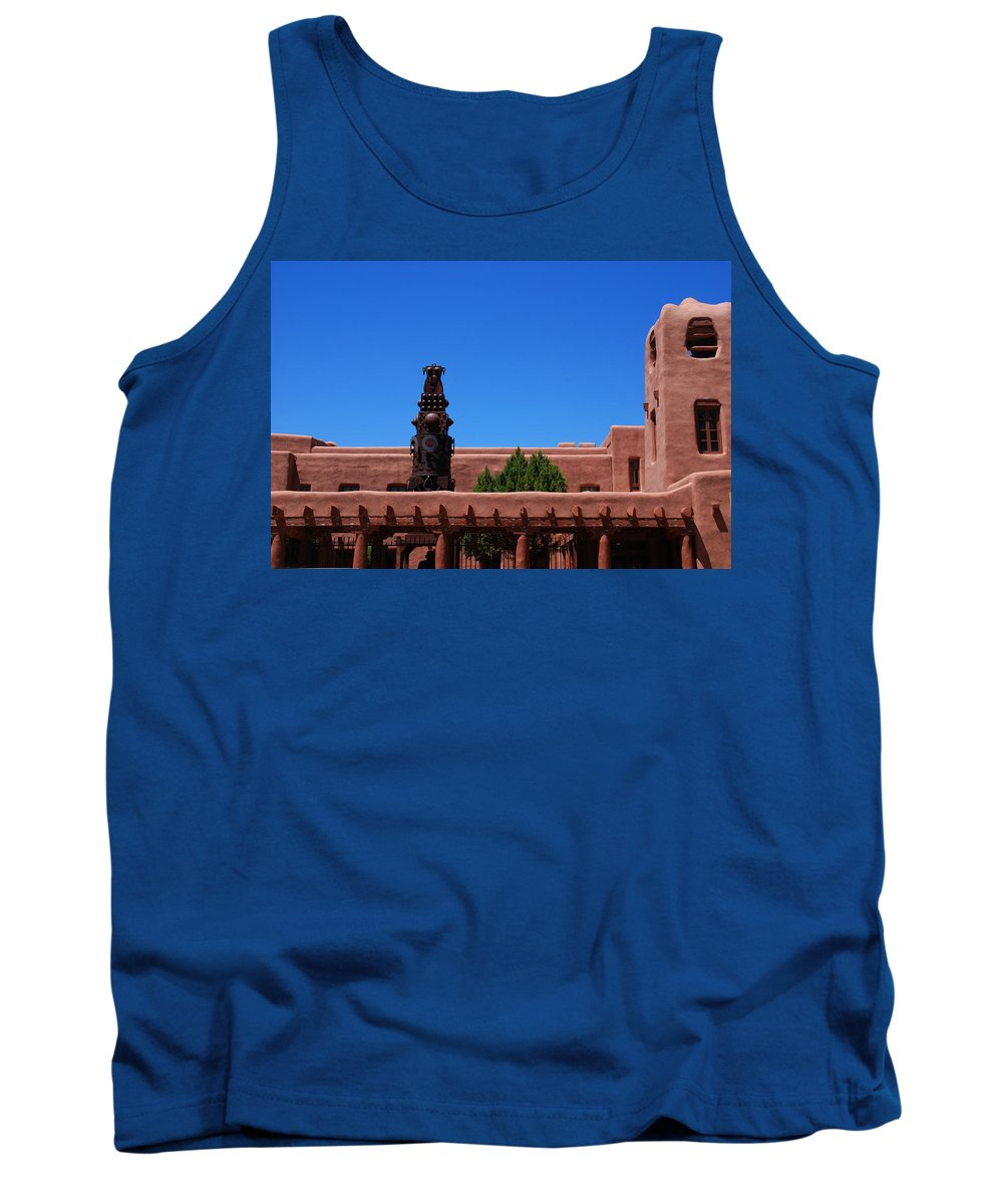 Museum Tank Top featuring the photograph Museum Of Indian Arts And Culture Santa Fe by Susanne Van Hulst