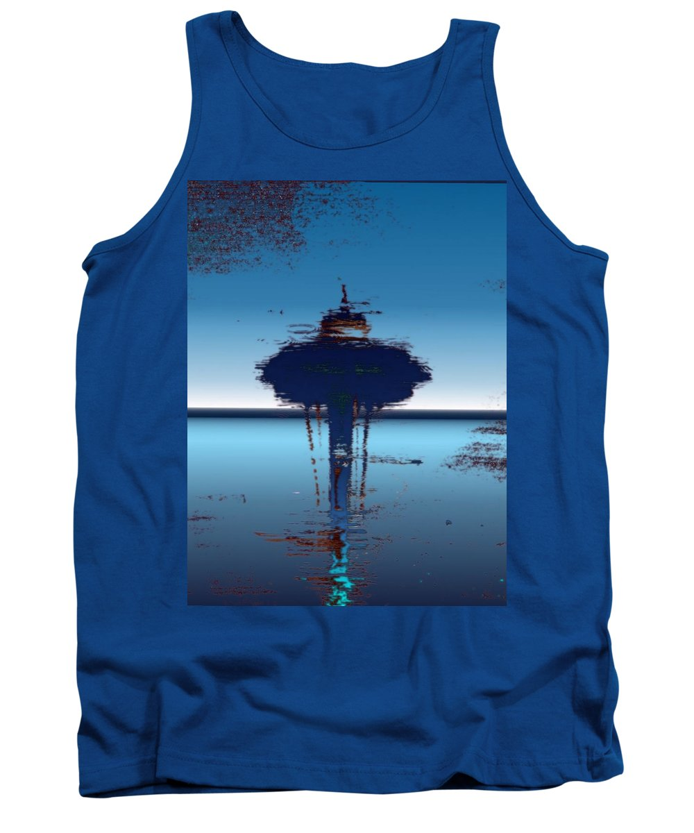 Seattle Tank Top featuring the digital art Needle In A Raindrop Stack 4 by Tim Allen