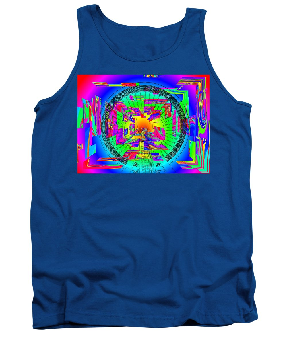 Needle Tank Top featuring the digital art Needle In The Vortex by Tim Allen