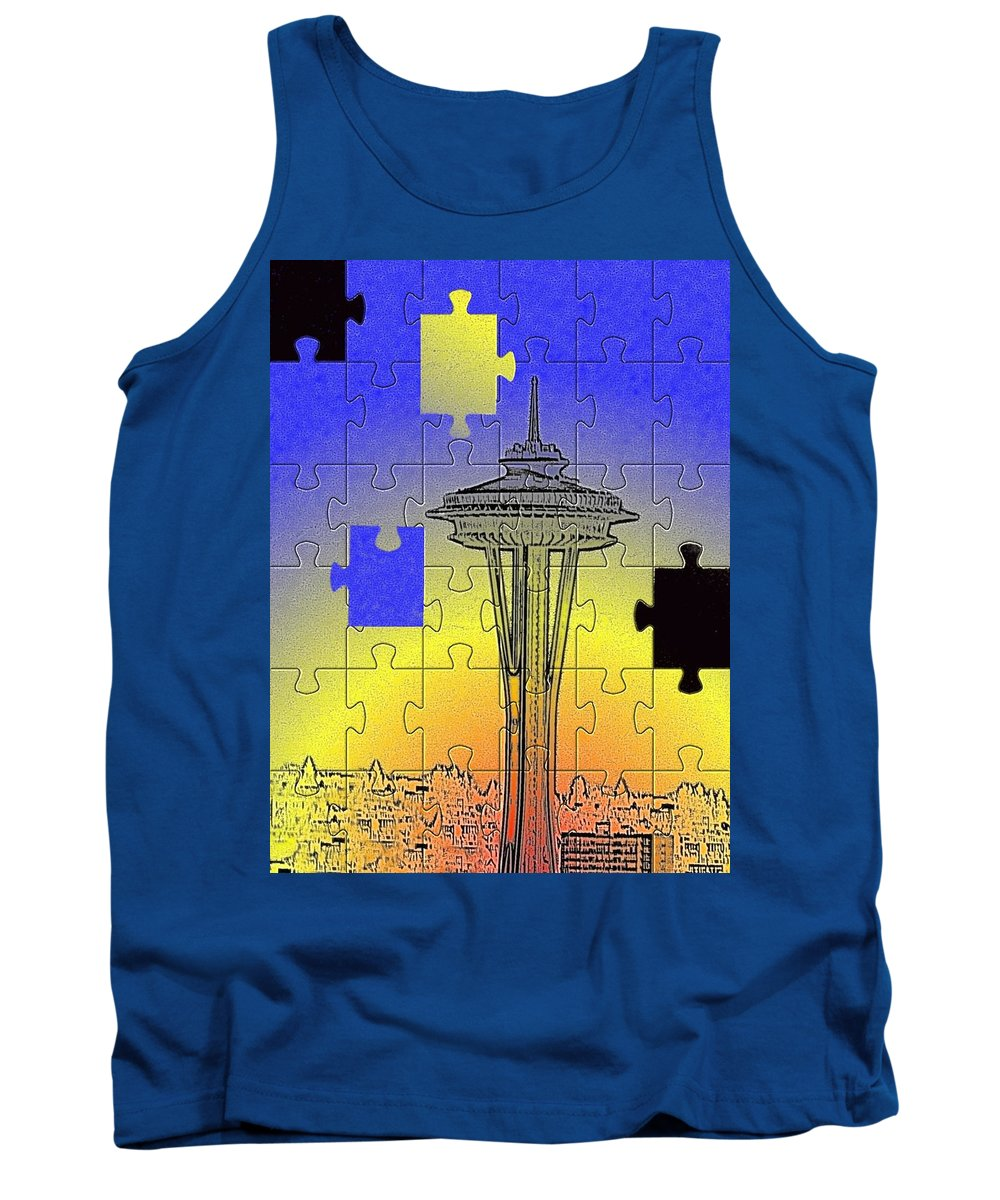 Seattle Tank Top featuring the photograph Needle Jigsaw by Tim Allen