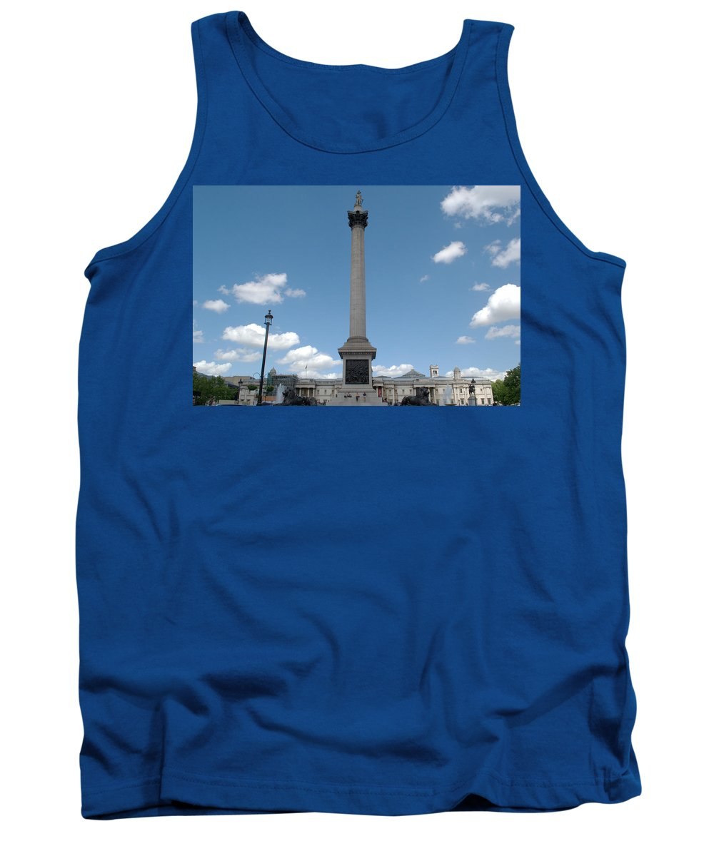 Trafalgar Tank Top featuring the photograph Nelsons Column by Chris Day