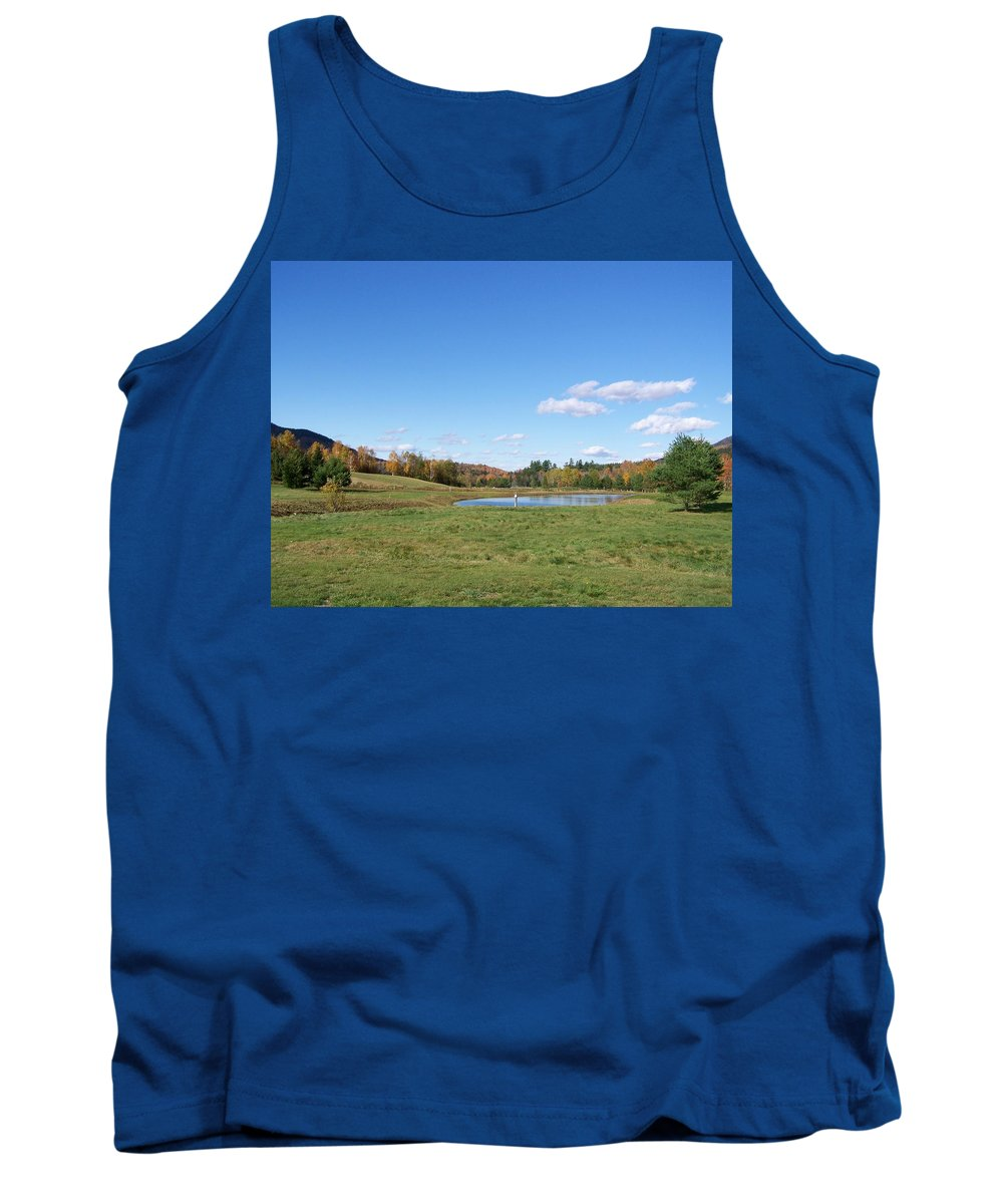 Scenery Tank Top featuring the photograph New Hampshire In The Fall 2 by Erin Rosenblum