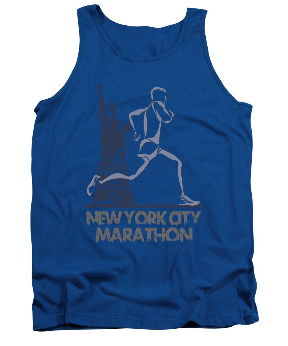 Runner Tank Top featuring the photograph New York City Marathon3 by Joe Hamilton