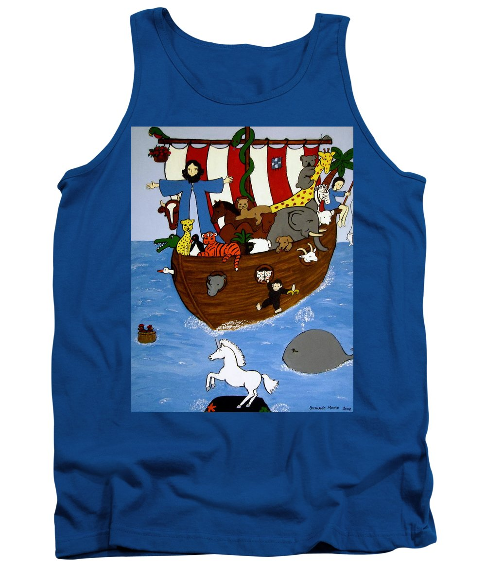 Noah Tank Top featuring the painting Noah's Ark by Stephanie Moore