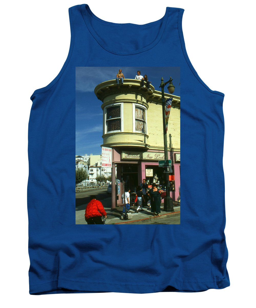 San+francisco Tank Top featuring the photograph North Beach San Francisco by Peter Potter