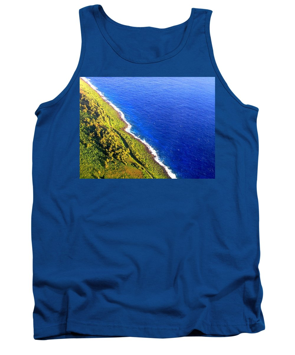 Chamorro Tank Top featuring the photograph North Coast Of Tinian At Sunrise by MB Dallocchio