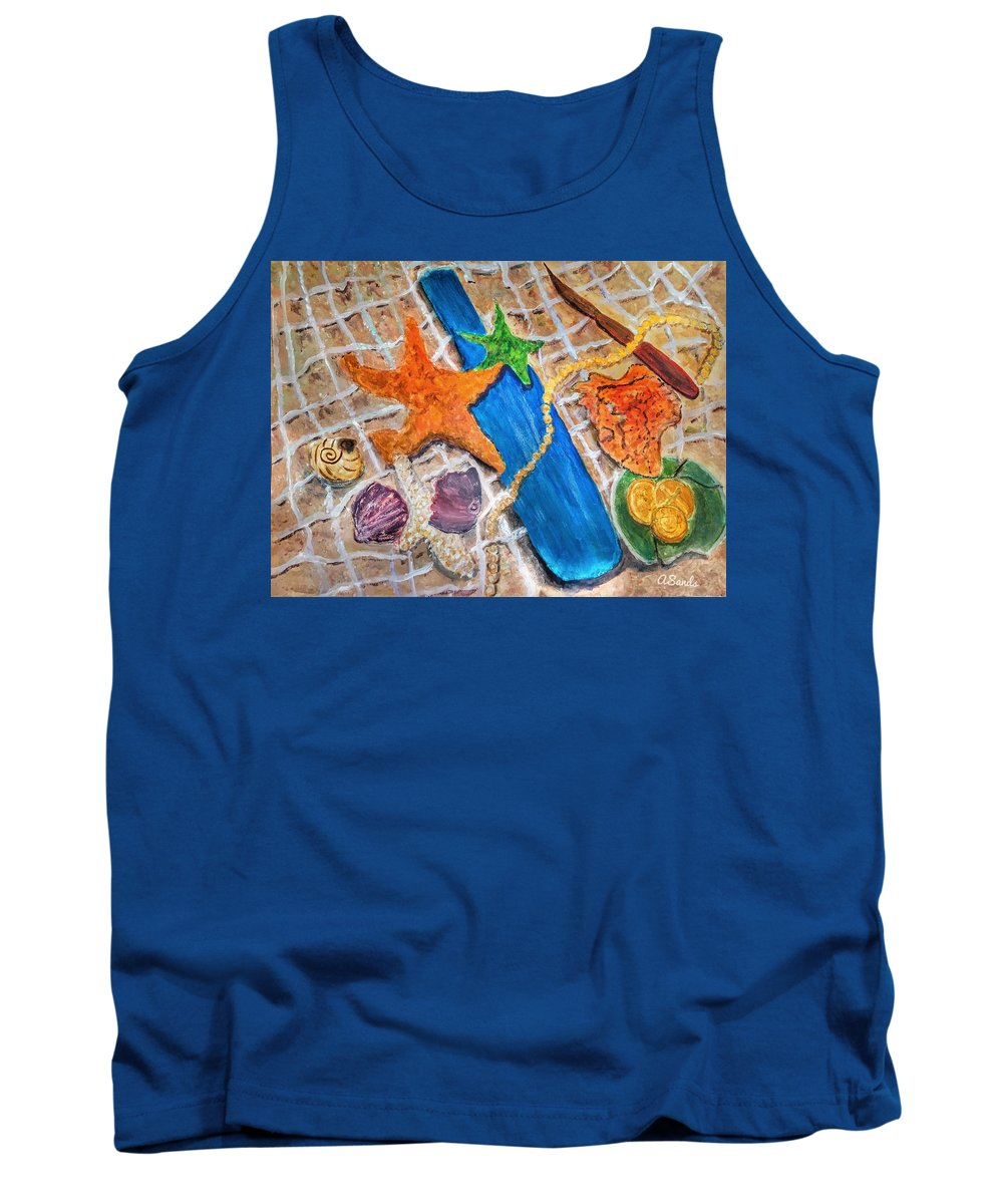 Sea Treasure Tank Top featuring the painting Ocean Bounty by Anne Sands