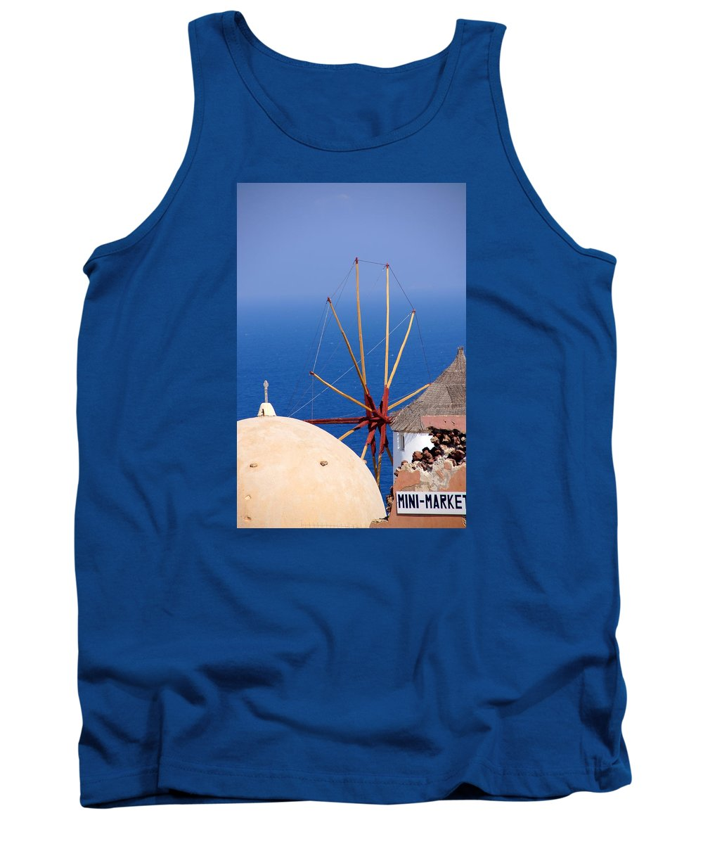 Windmill Tank Top featuring the photograph Old And New by Ron Koivisto