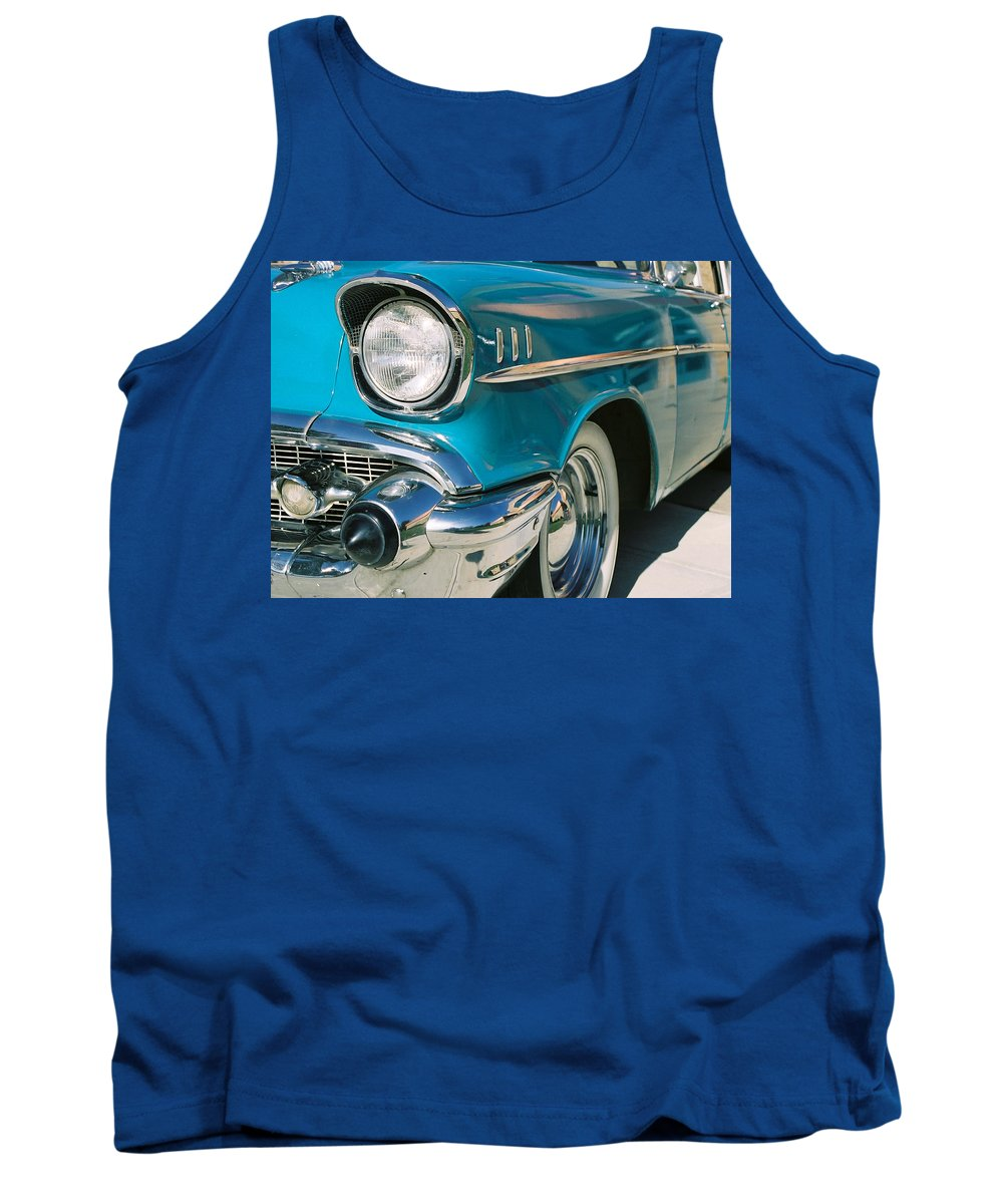 Chevy Tank Top featuring the photograph Old Chevy by Steve Karol