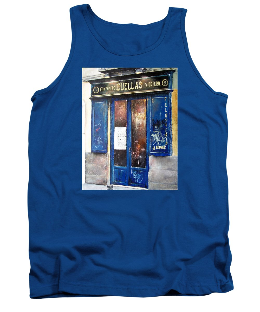 Old Tank Top featuring the painting Old Plumbing-madrid by Tomas Castano