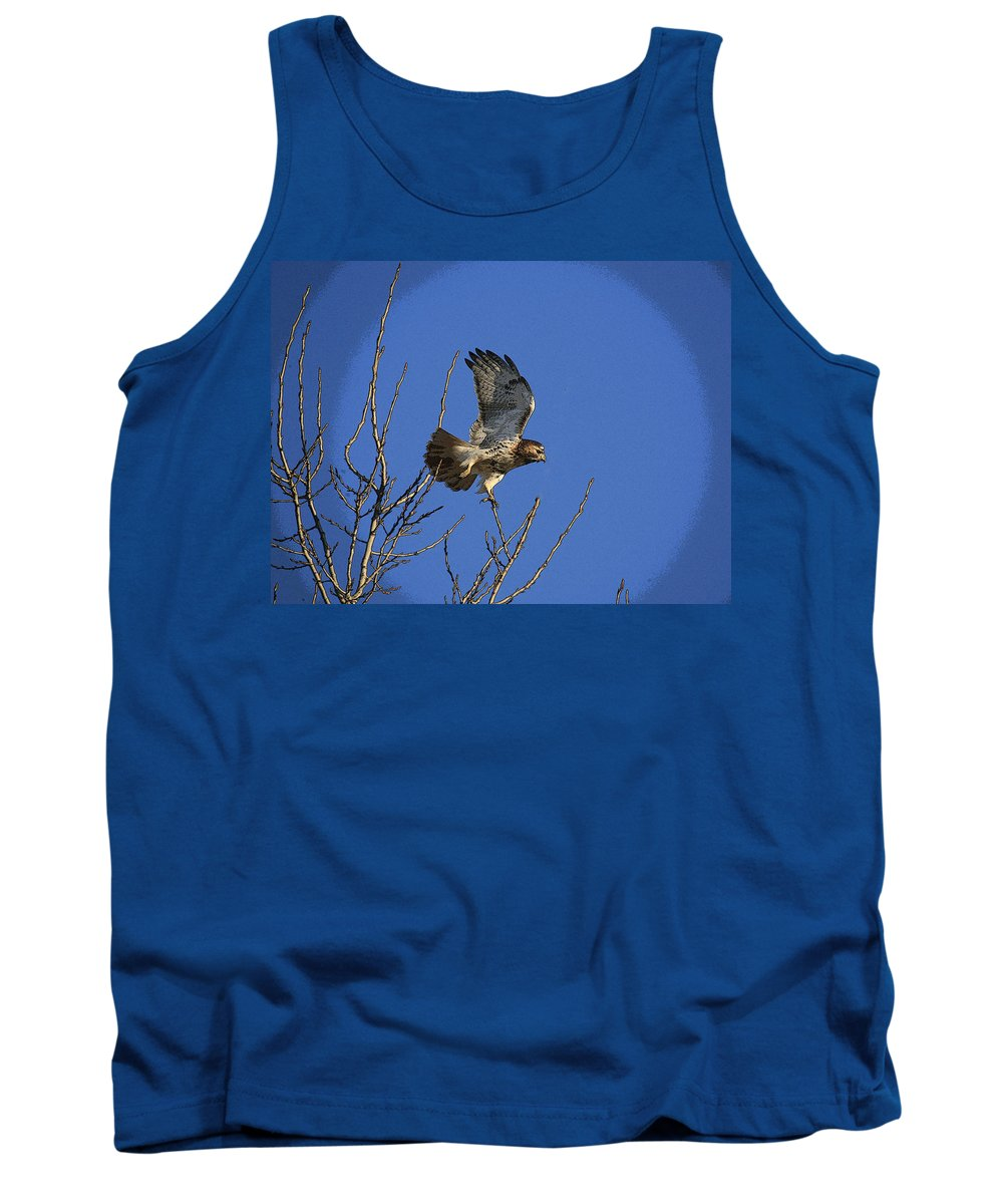 Hawk Tank Top featuring the photograph On The Move by Robert Pearson