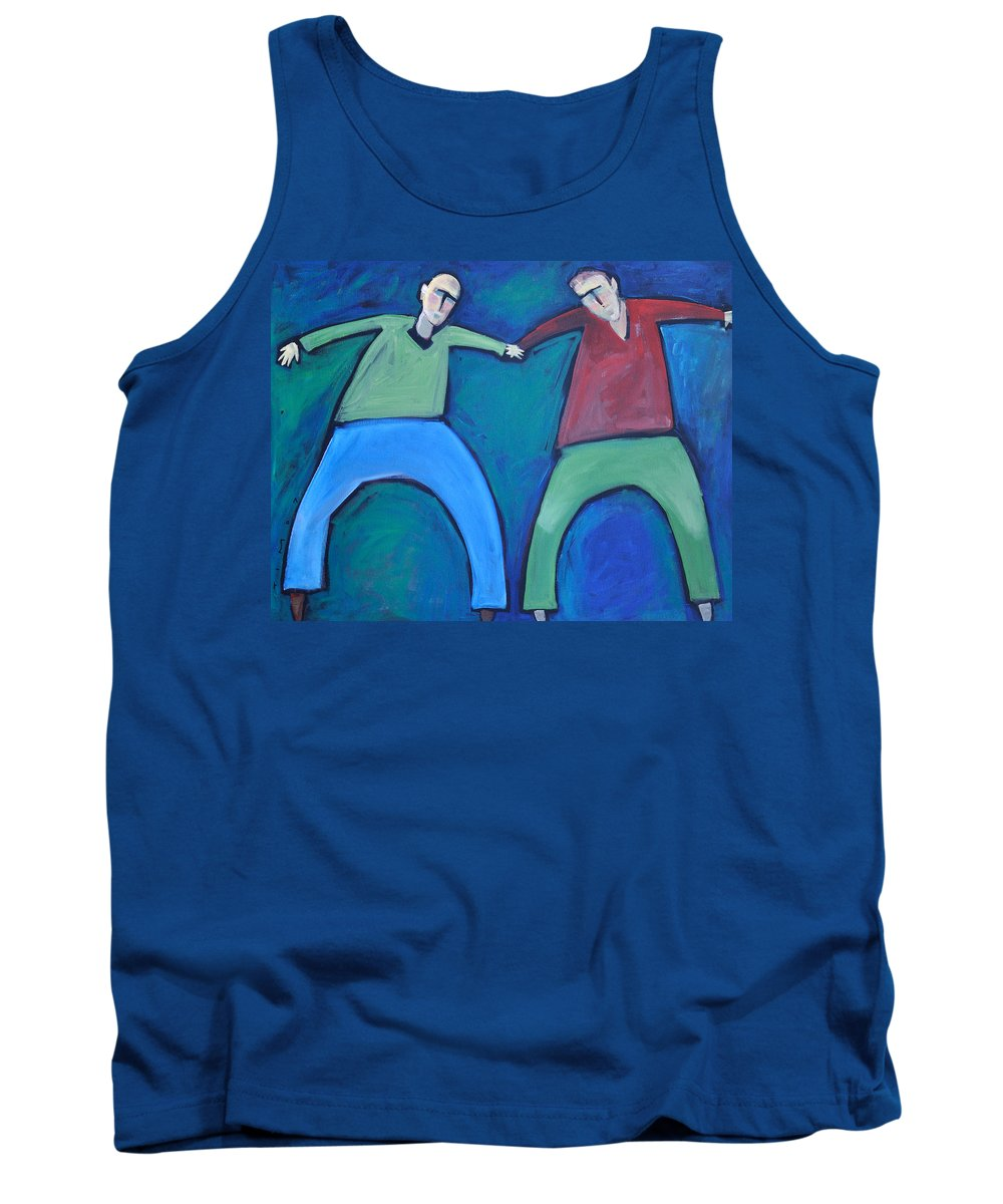 Men Tank Top featuring the painting On The Precipice by Tim Nyberg