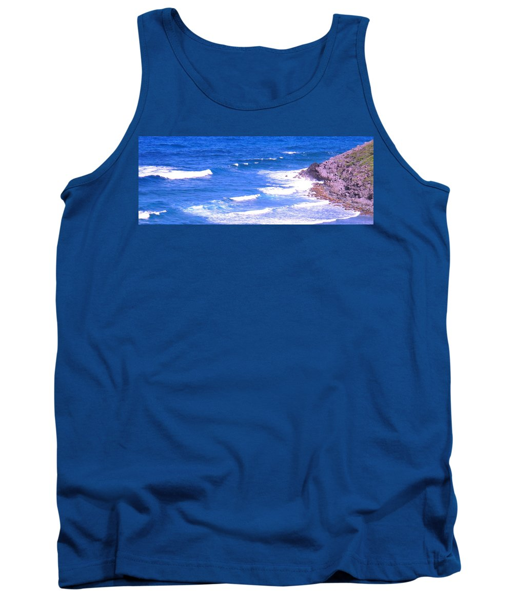 Atlantic Tank Top featuring the photograph One After Another by Ian MacDonald