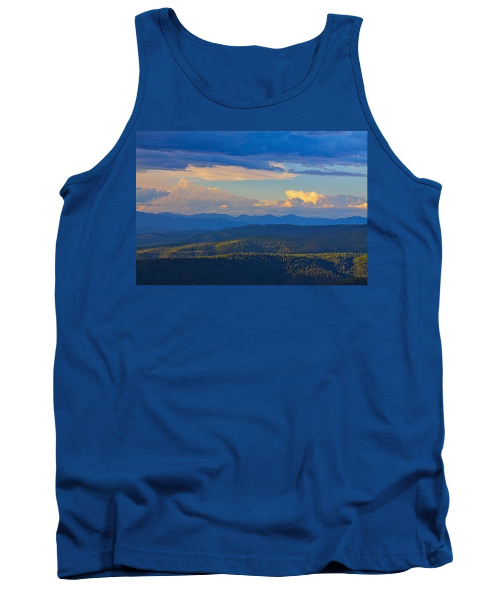 Blue Tank Top featuring the photograph One Hour Before Sunset by Karon Melillo DeVega
