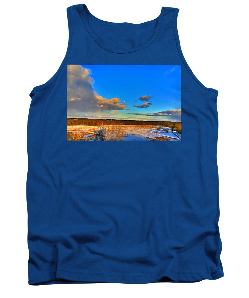 Winter Tank Top featuring the photograph Ounce In A Blue Moon by Robert Pearson