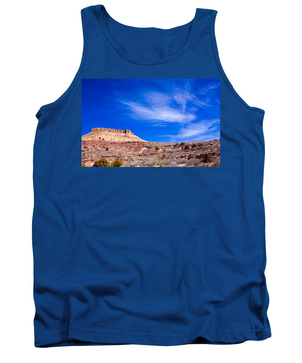 Red Tank Top featuring the photograph Outside Lyons Colorado by Marilyn Hunt