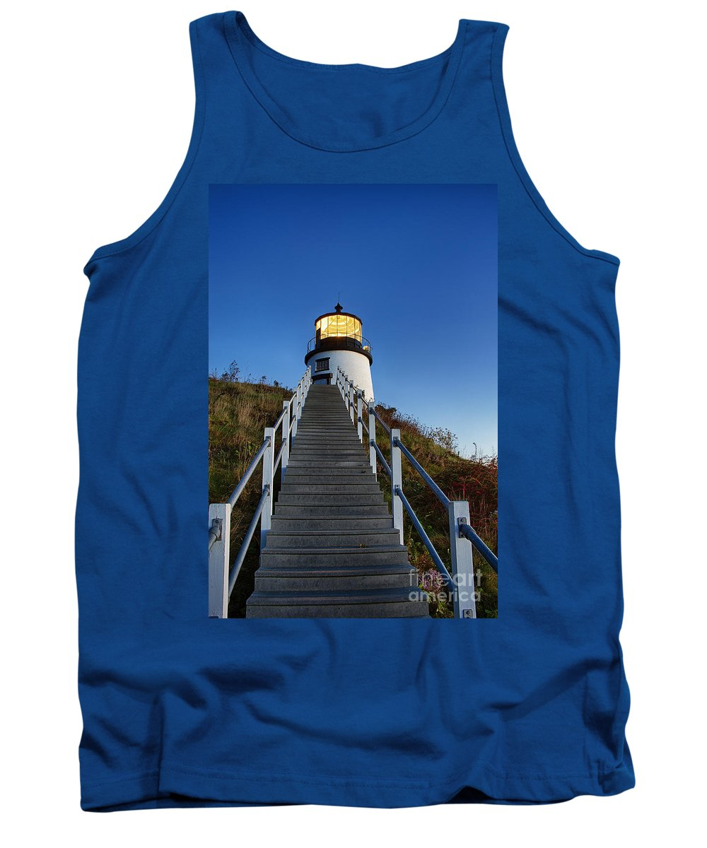 Maine Tank Top featuring the photograph Owls Head Lighthouse by John Greim