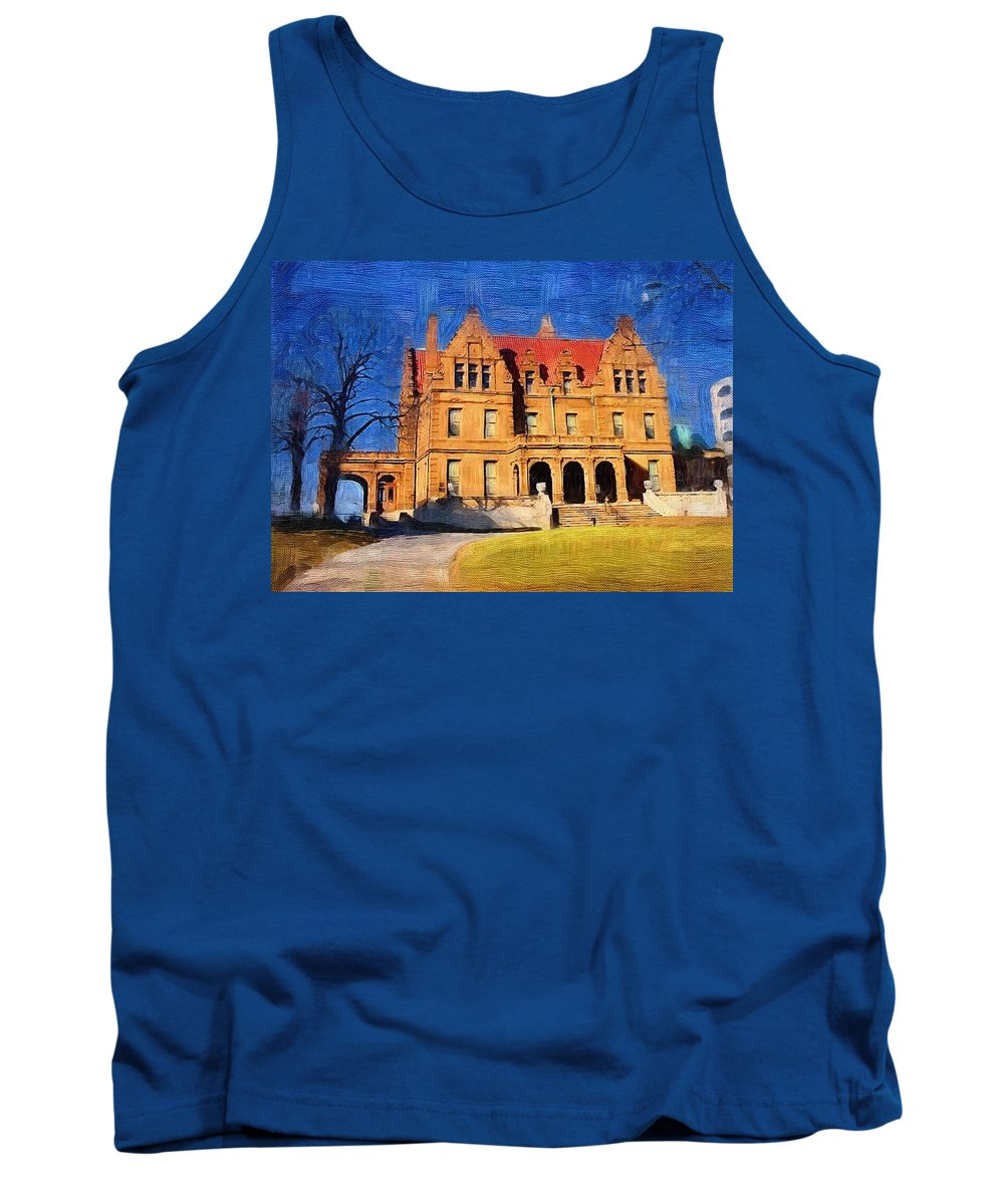Architecture Tank Top featuring the digital art Pabst Mansion by Anita Burgermeister