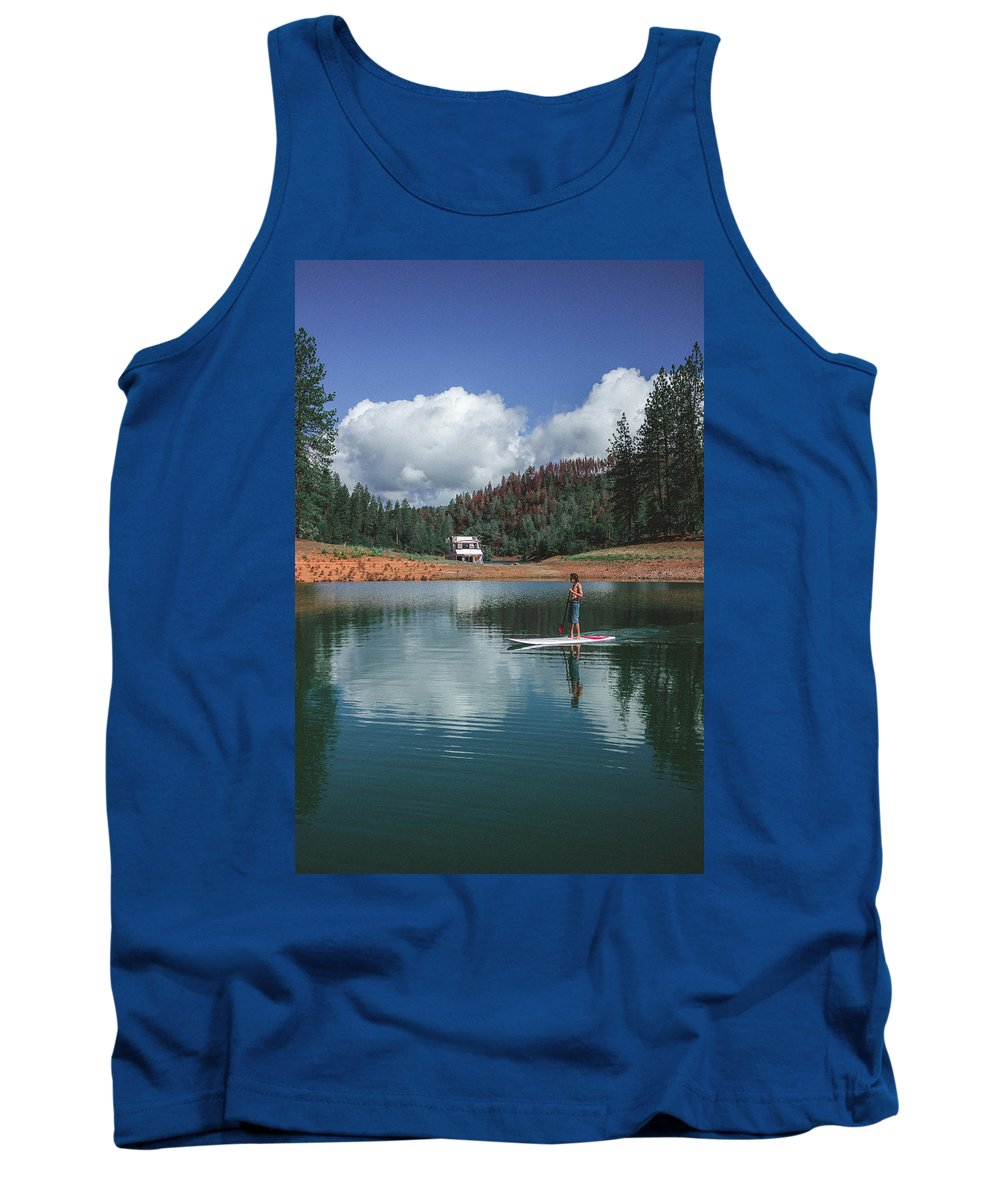 Sup Tank Top featuring the photograph Paddleboarding by Conner Koch