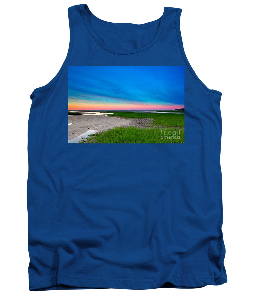 Sunset Tank Top featuring the photograph Paines Creek Sunset Cape Cod by Matt Suess