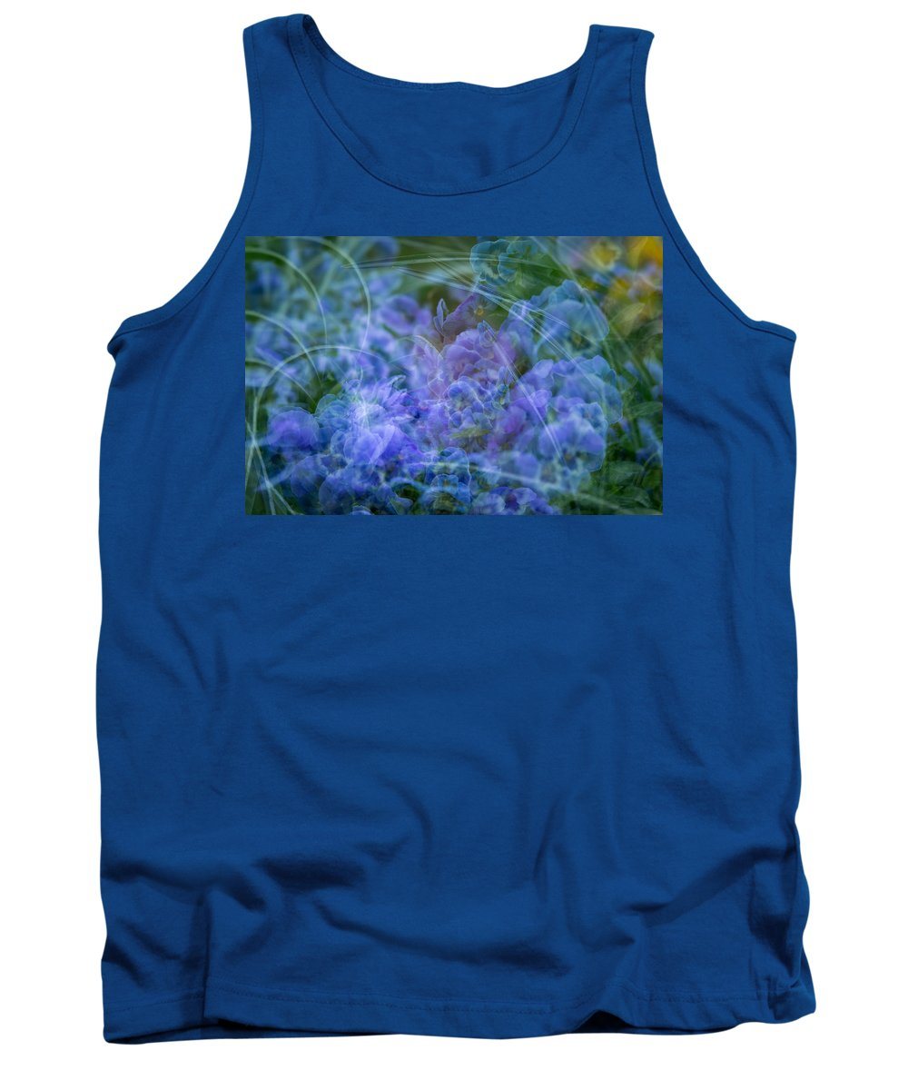 Spring Tank Top featuring the photograph Pansy Dance by Joye Ardyn Durham