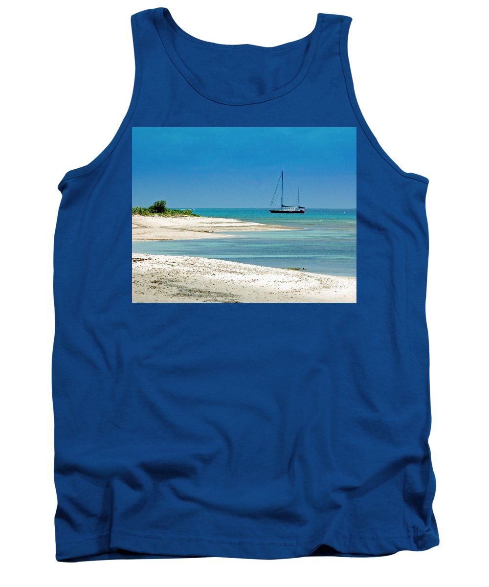 Boat Tank Top featuring the photograph Paradise Found by Debbi Granruth