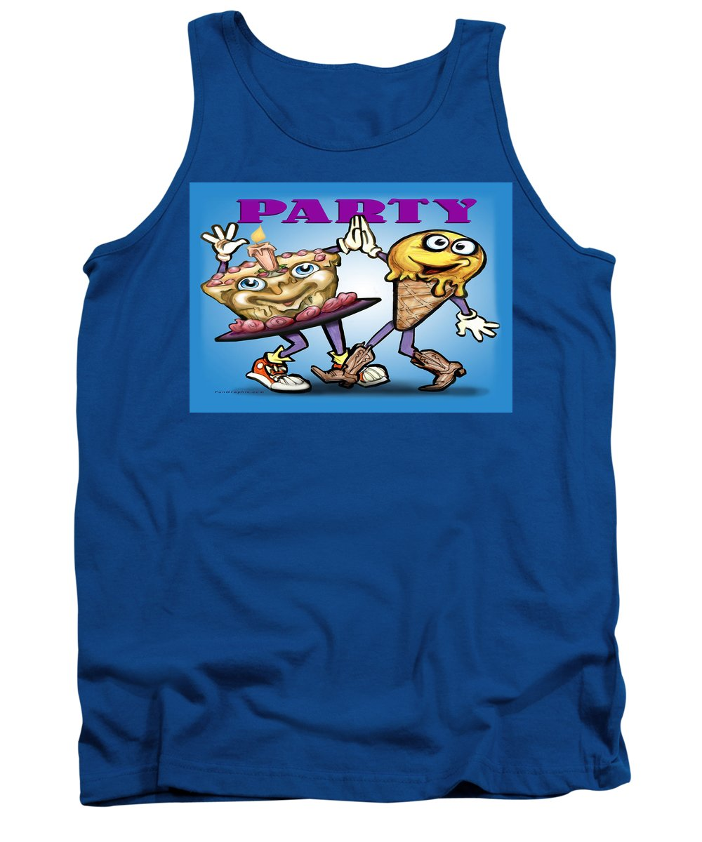 Party Tank Top featuring the greeting card Party by Kevin Middleton