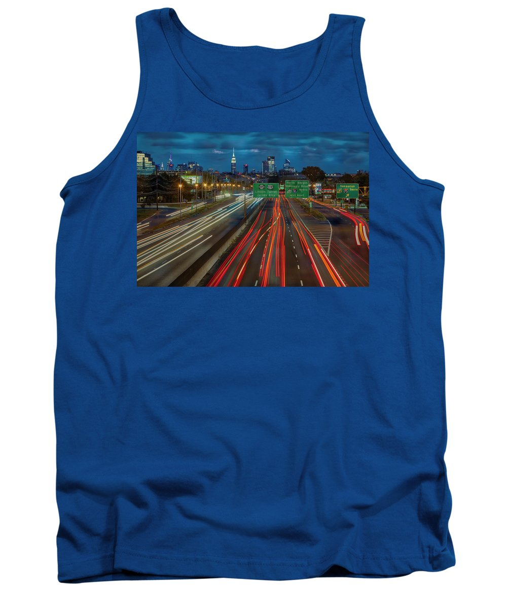 New York City Tank Top featuring the photograph Path To And From Nyc by Susan Candelario