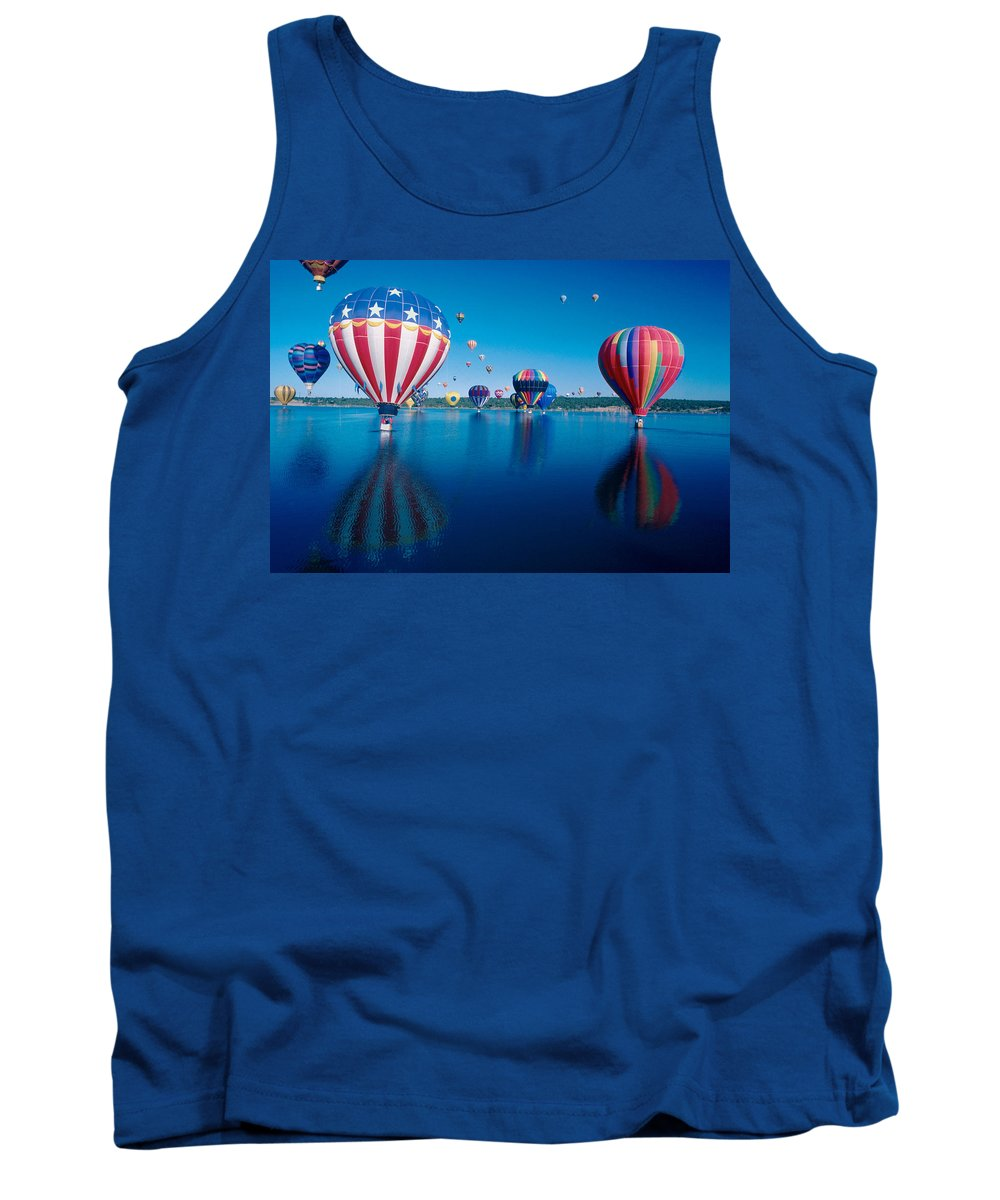 Hot Air Balloons Tank Top featuring the photograph Patriotic Hot Air Balloon by Jerry McElroy