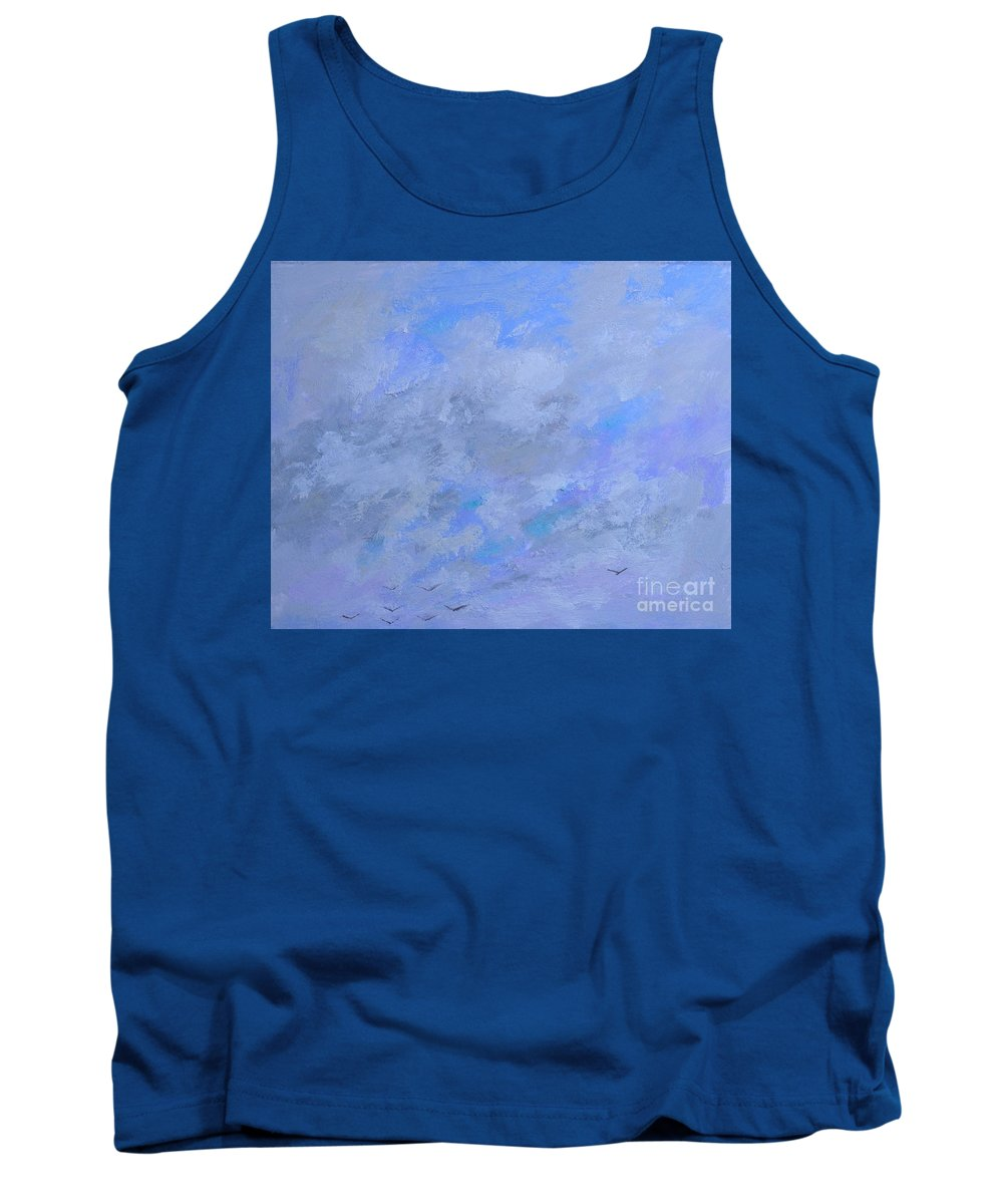 Peace Of Mind Tank Top featuring the painting Peace Beyond Understanding by Philip Jones