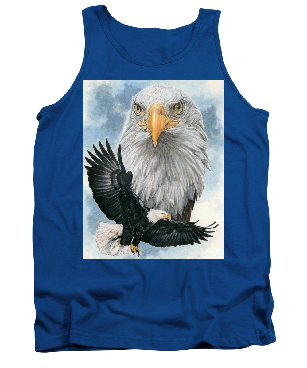 Bald Eagle Tank Top featuring the mixed media Peerless by Barbara Keith