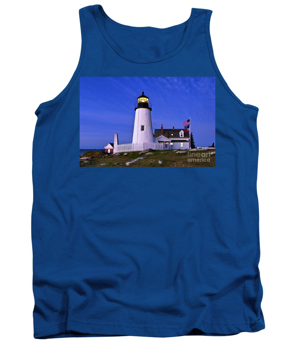 Bristol Tank Top featuring the photograph Pemaquid Point Lighthouse Maine by John Greim