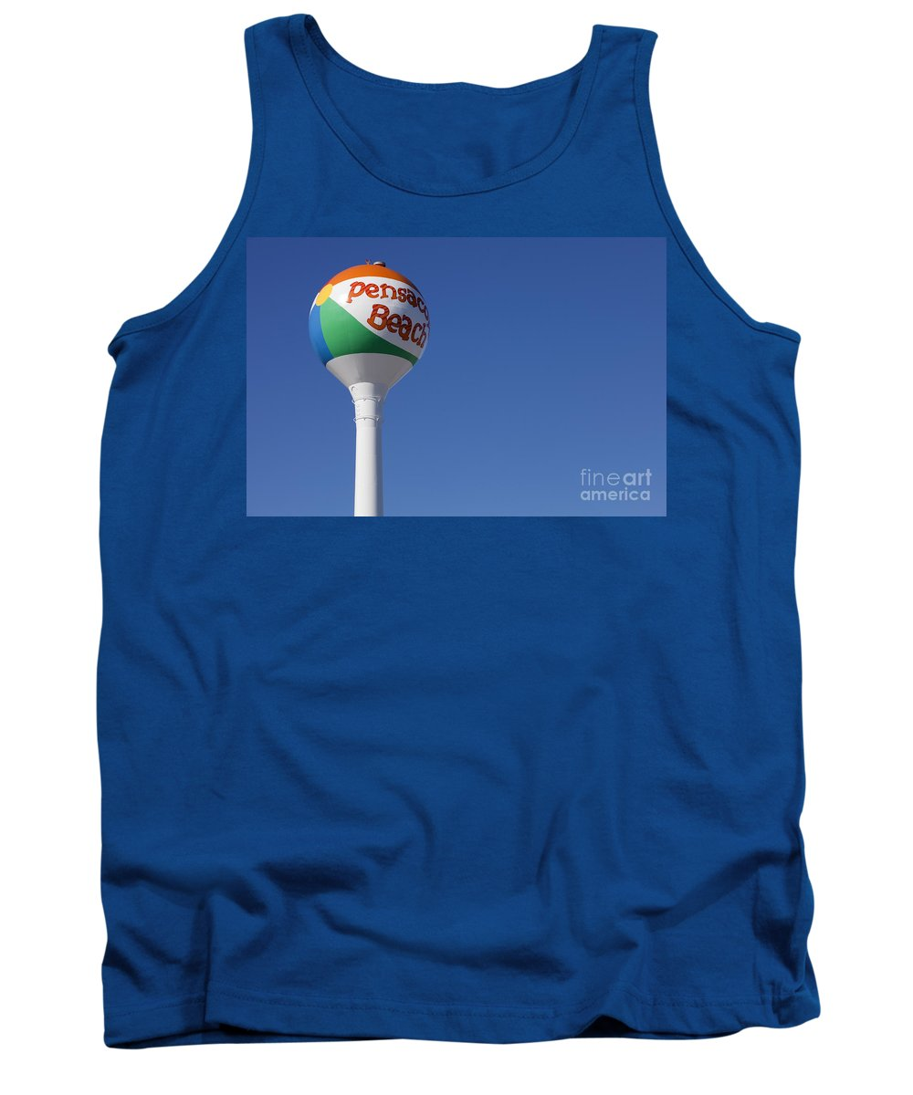 Florida Tank Top featuring the photograph Pensacola Beach Watertower by Anthony Totah