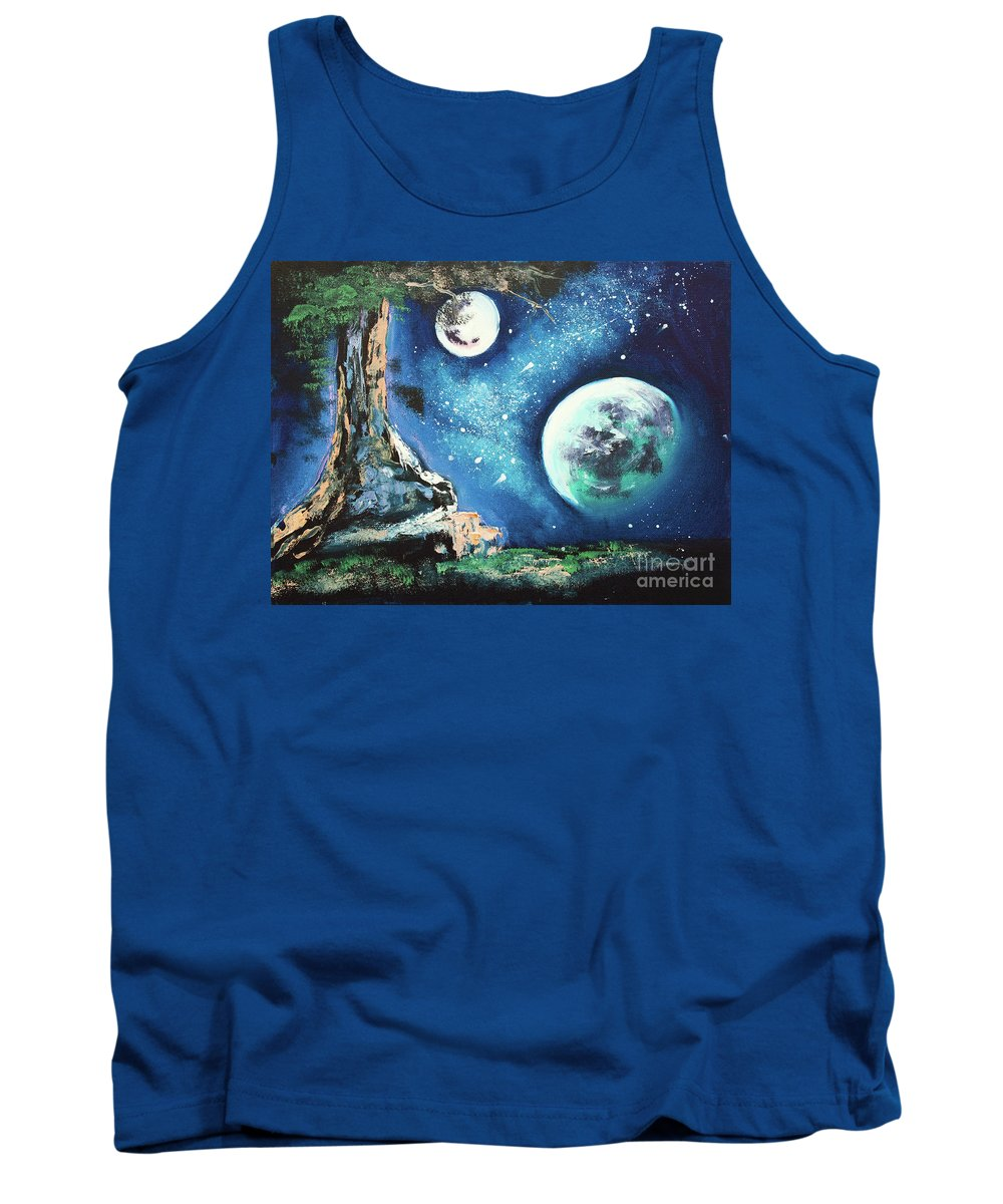 Original Tank Top featuring the painting Place For Dreaming by Kristian Leov