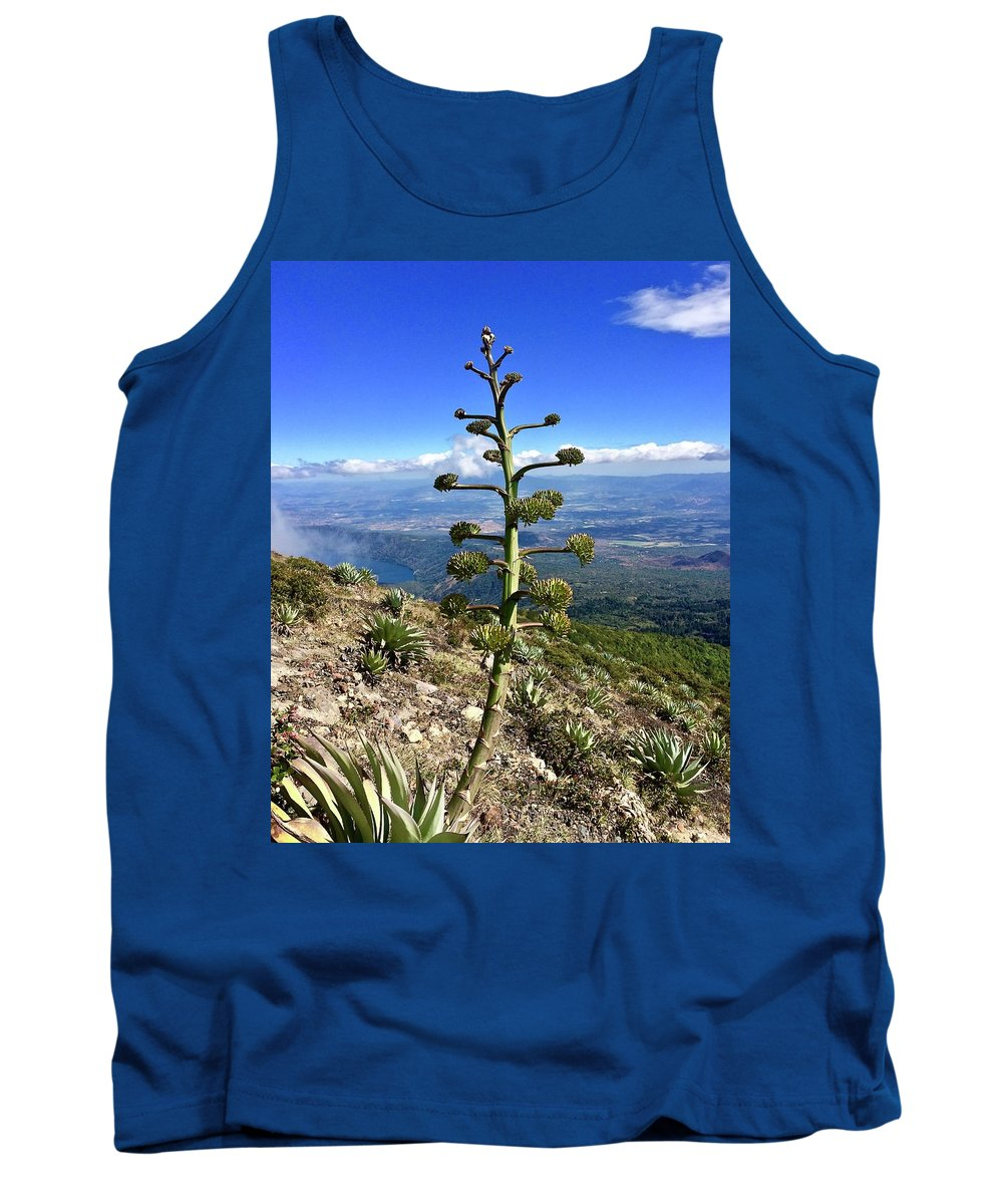 Plant Tank Top featuring the photograph Plant On Volcano Slope by Will Fox