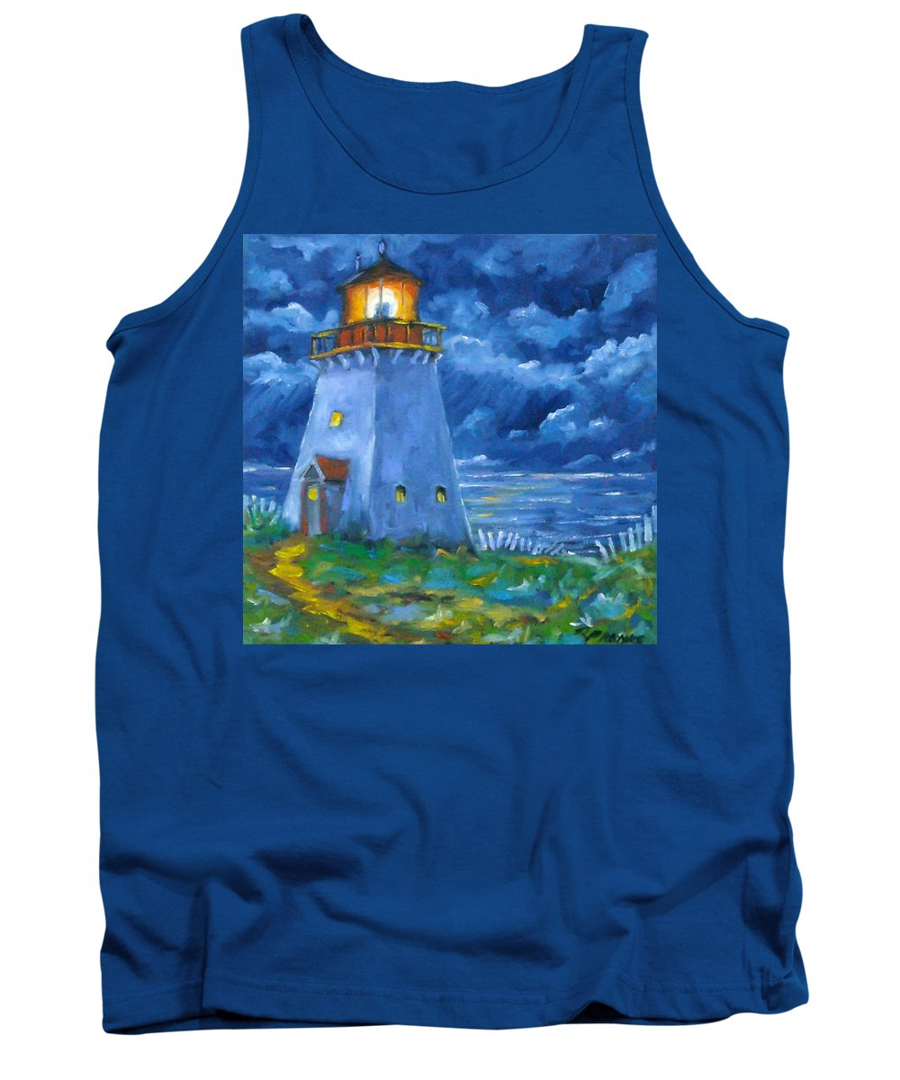 Art Tank Top featuring the painting Pointe Bonaventure by Richard T Pranke