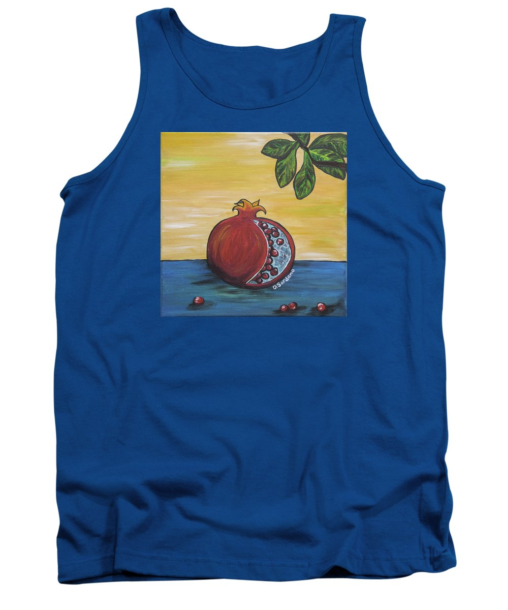 Pomegranate Tank Top featuring the painting Pomegranate by Dana Sardano