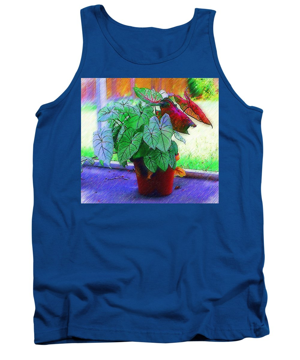 Garden Tank Top featuring the photograph Potted Plant by Donna Bentley