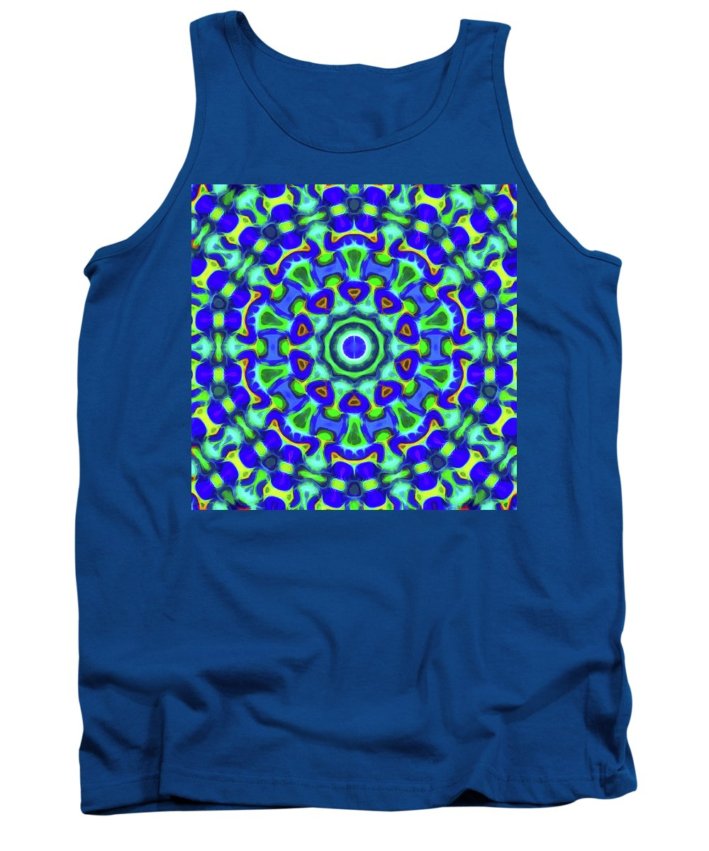 Mandala Art Tank Top featuring the painting Power by Jeelan Clark
