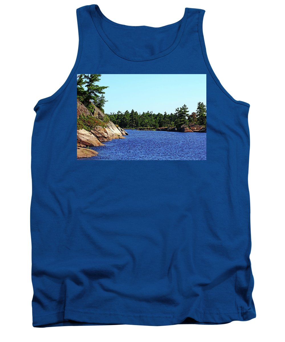 French River Tank Top featuring the photograph Pristine Beauty Of The French by Debbie Oppermann