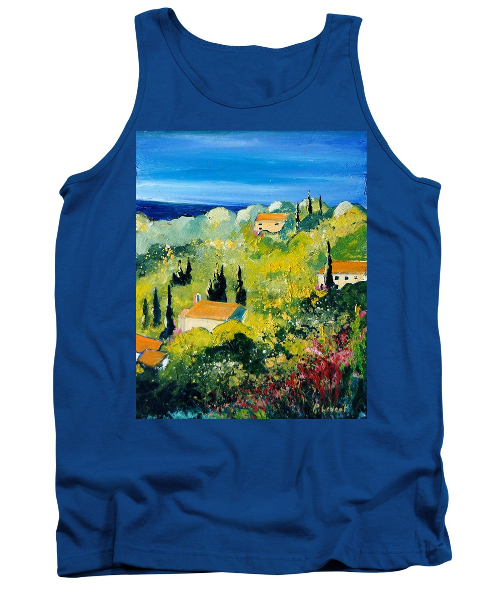Village Tank Top featuring the painting Provence 459070 by Pol Ledent