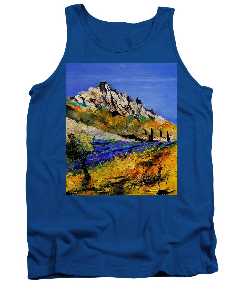 Flowers Tank Top featuring the painting Provence 560908 by Pol Ledent
