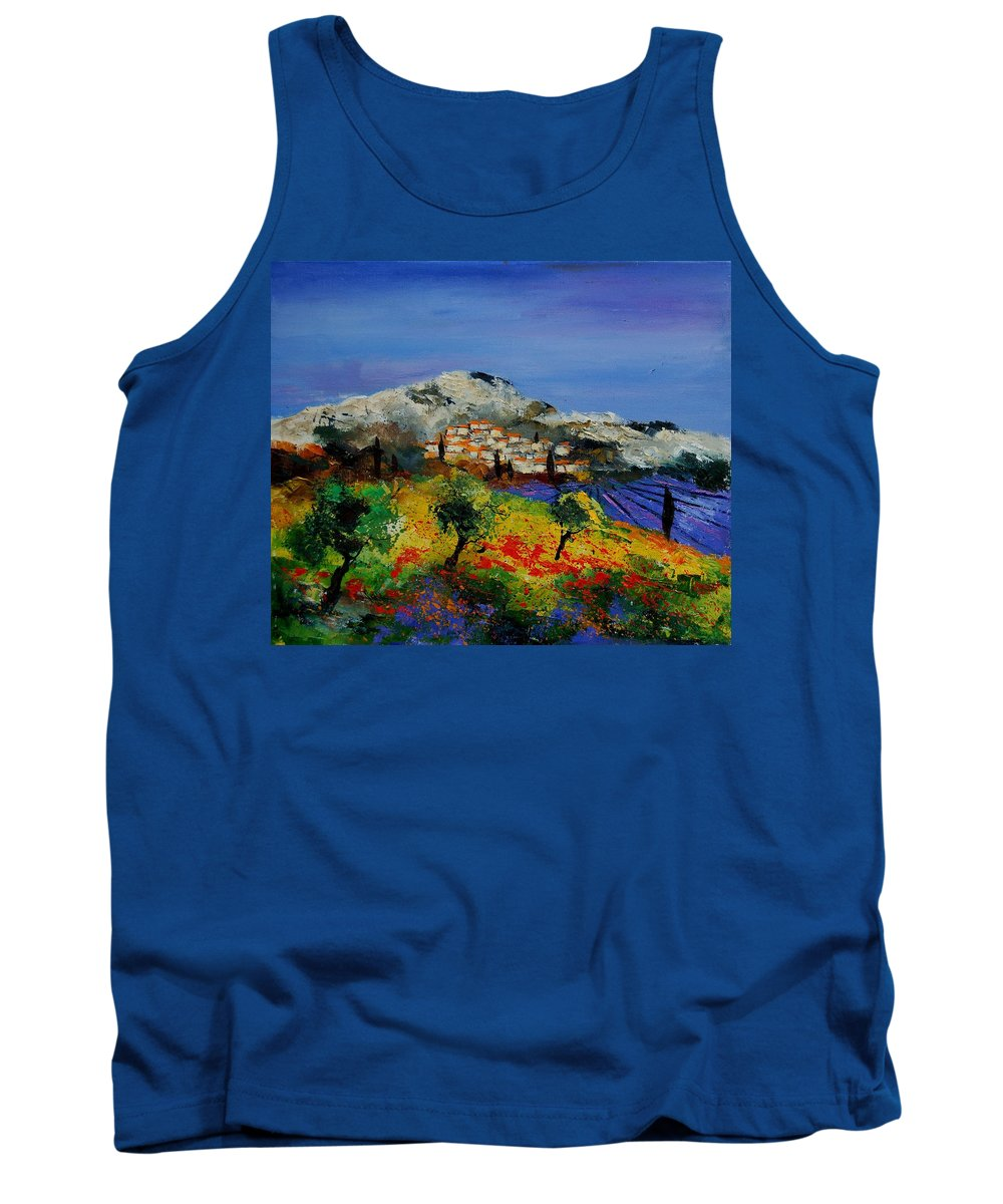Provence Tank Top featuring the painting Provence 569010 by Pol Ledent