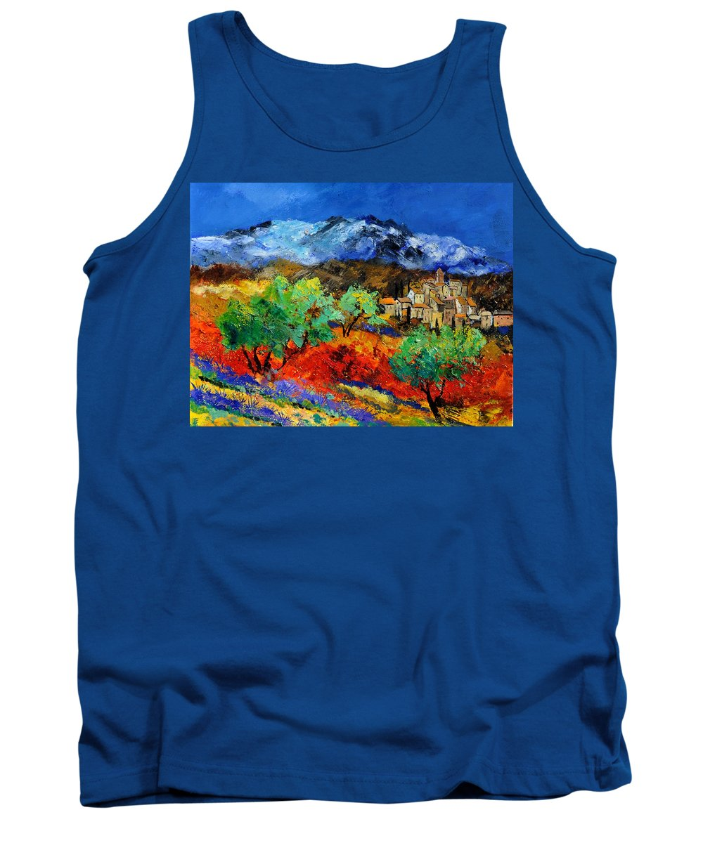 Landscape Tank Top featuring the painting Provence 790050 by Pol Ledent