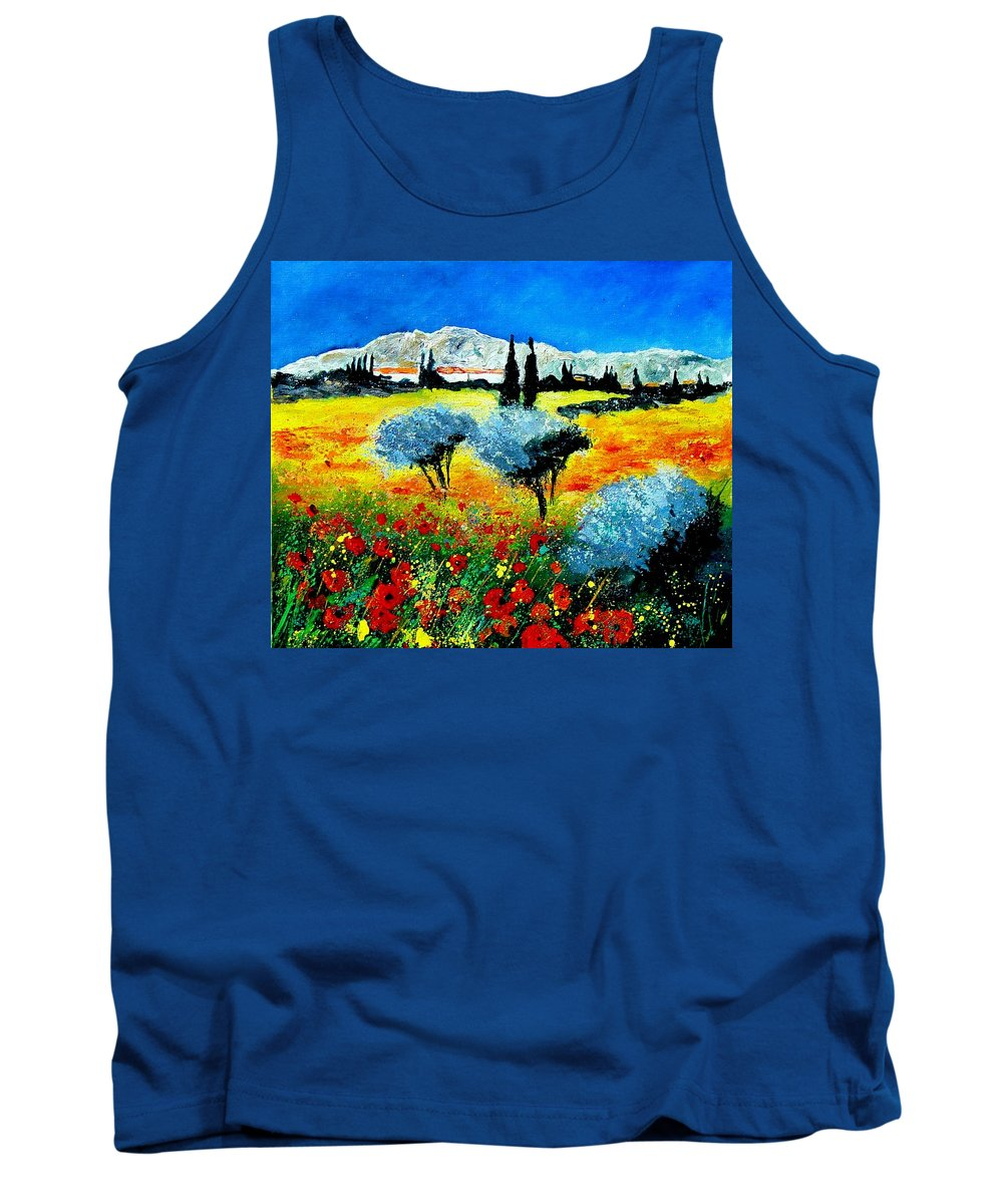 Poppies Tank Top featuring the painting Provence by Pol Ledent