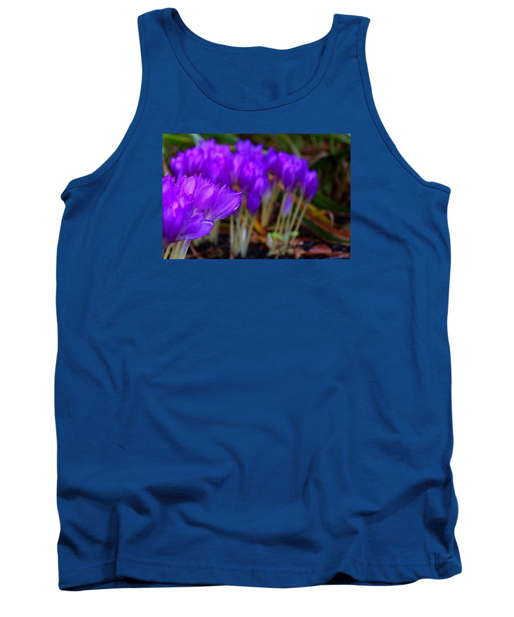 Purple Flowers Tank Top featuring the photograph Purple Flowers by Scott Hill