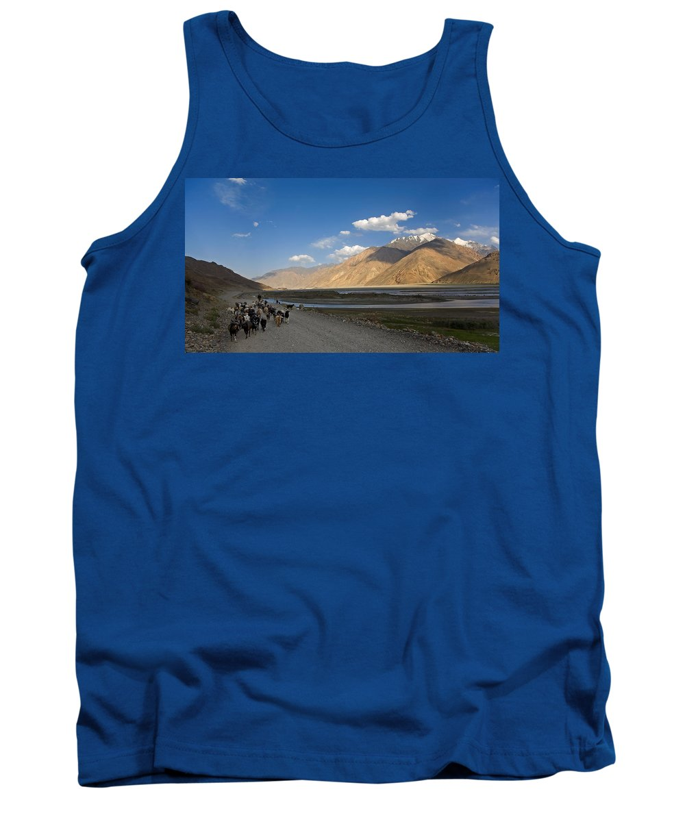 Animal Tank Top featuring the photograph Pyandzh Valley by Konstantin Dikovsky