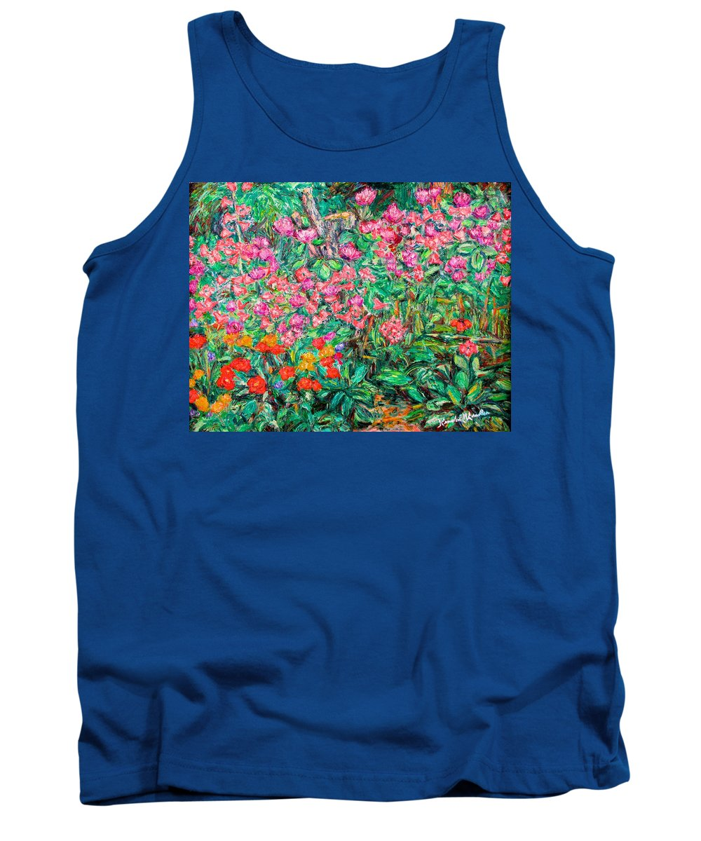 Kendall Kessler Tank Top featuring the painting Radford Flower Garden by Kendall Kessler